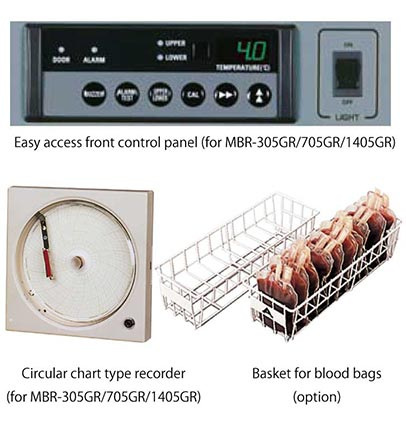 Blood fridge basket, recorder etc