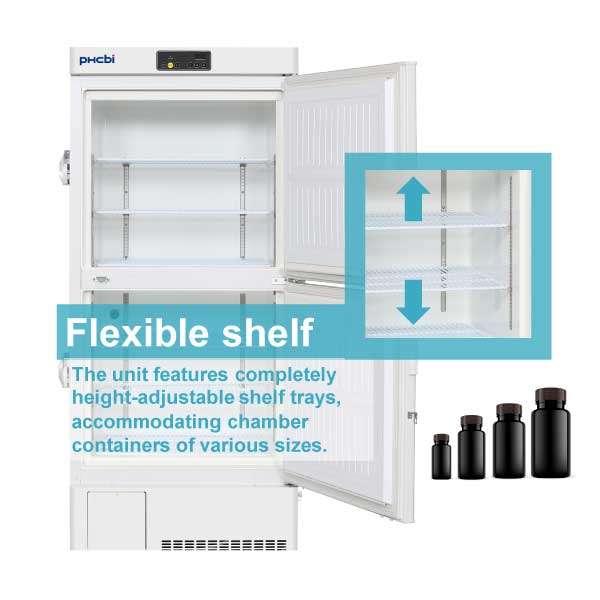MDF-MU330H flexible shelves