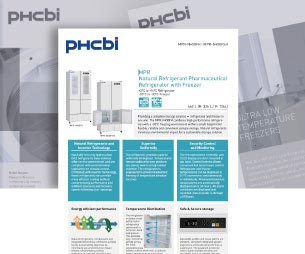 Download Flyer of New Vaccine Refrigerator and Freezer | MPR-N450FH MPR-N450FSH | PHCbi