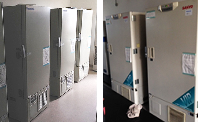 Ultra low temperature freezers already installed