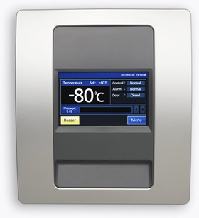 TwinGuard upright freezer LCD interface