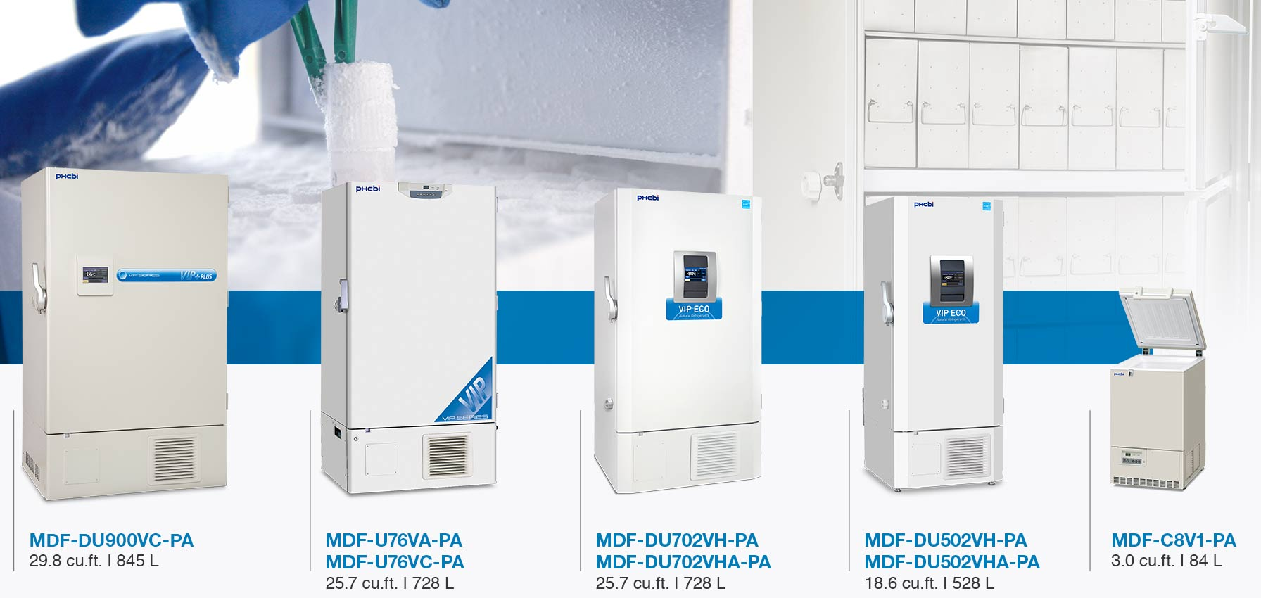 VIP Series freezers, the most reliable lab freezer
